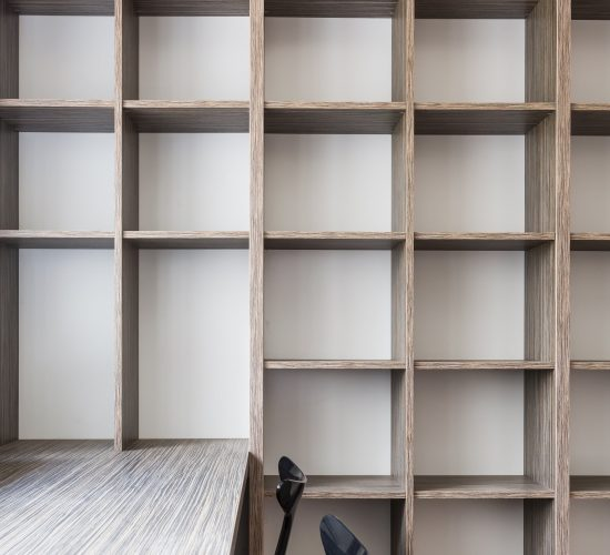 Empty Office With Fitted Bookshelf