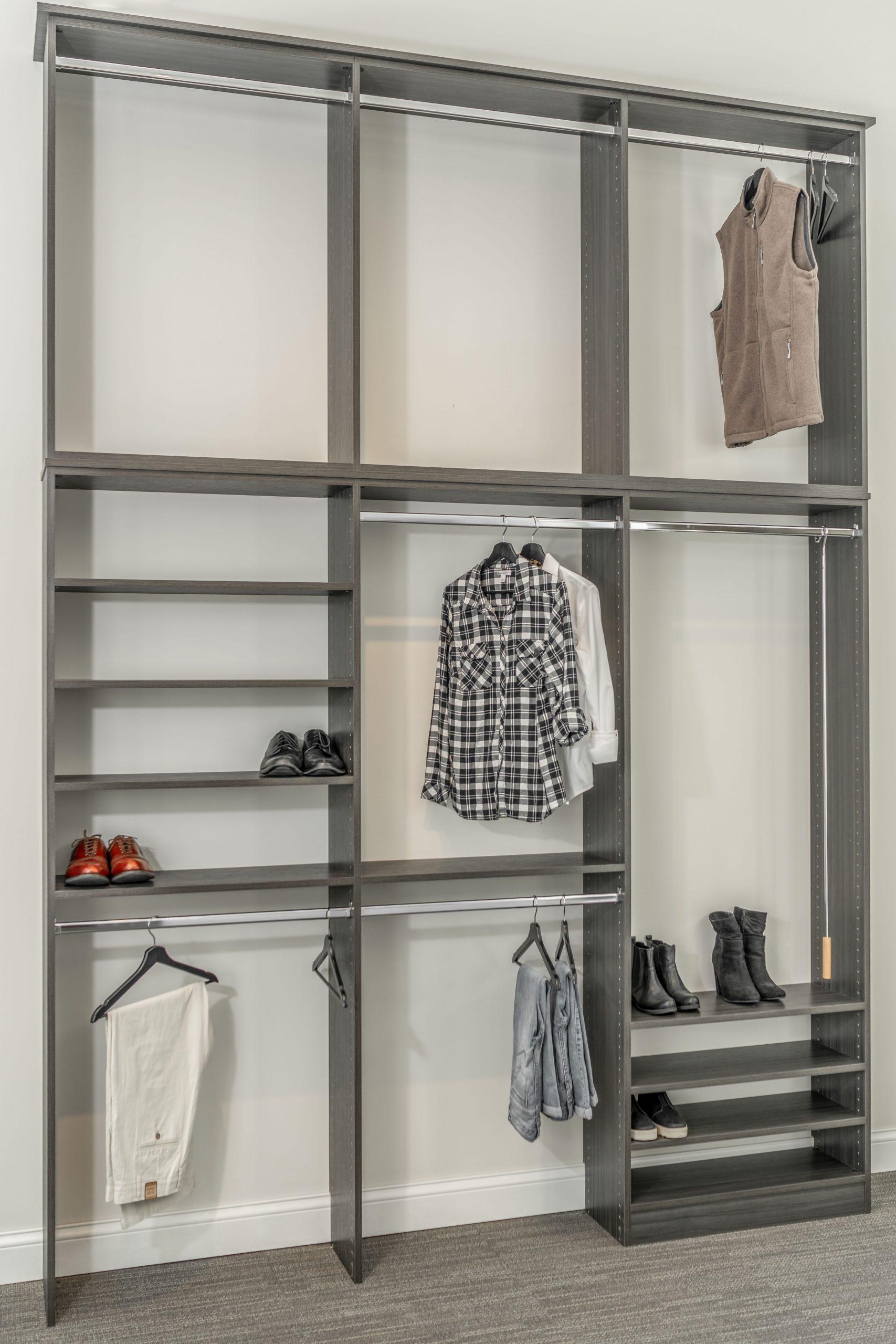bedroom closet  scherer bros custom closets  storage